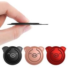 Finger Ring Socket Holder 360 Degree Hand Rotation Cartoon Pig Mobile P