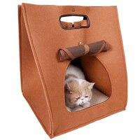 따뜻한 고양이 하우스 접이식 애완 동물 작은 개