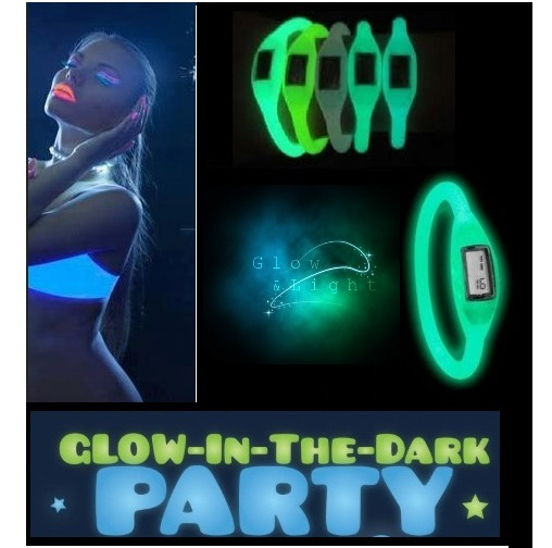1 pc Silicone ION Sport WATCH GLOW in the Dark Girl Women Ladies Fashion Silicon Jelly Rubber glowing colors neon party supplies