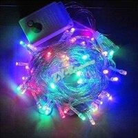Precio 100 M impermeable 220 V 600 LED vacaciones cadena luces para fiesta de Navidad Hada colorida