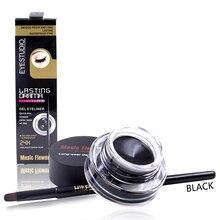 Music Flower Charming Eyeliner gel Water does not bloom black 3g