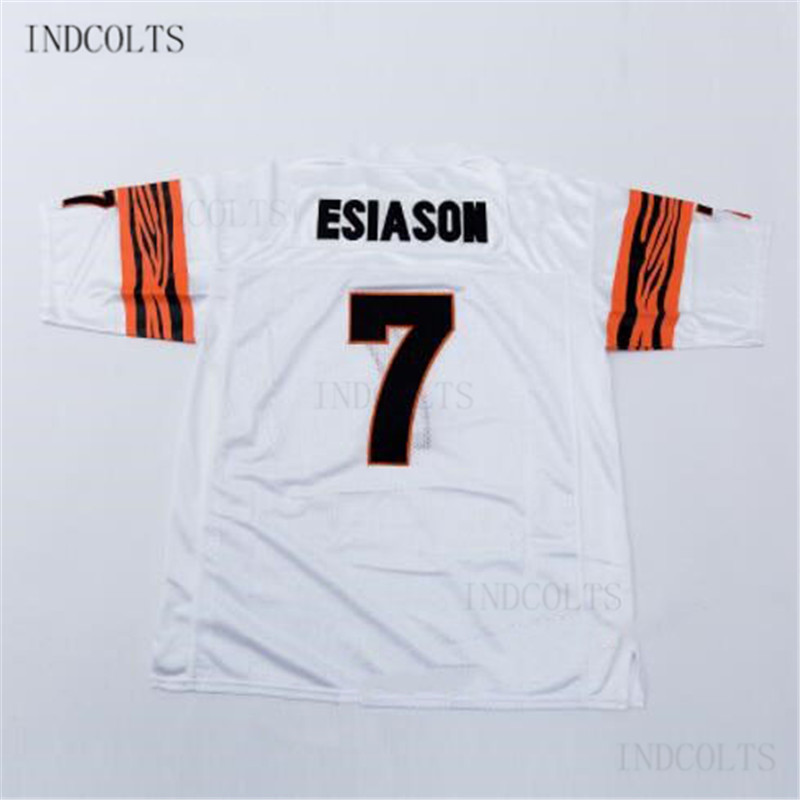 Throwback #7 Boomer Esiason Embroidered Retro star Football Jersey free shipping INDCOLT ...