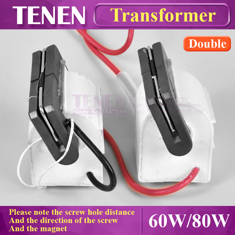 2Pcs /lot Double Laser High Voltage Transformer Flyback Lgnition Coil For 60W 80W 100W DY10 DY13 CO2 Laser Power Supply Parts2Pcs /lot Double Laser High Voltage Transformer Flyback Lgnition Coil For 60W 80W 100W DY10 DY13 CO2 Laser Power Supply Parts