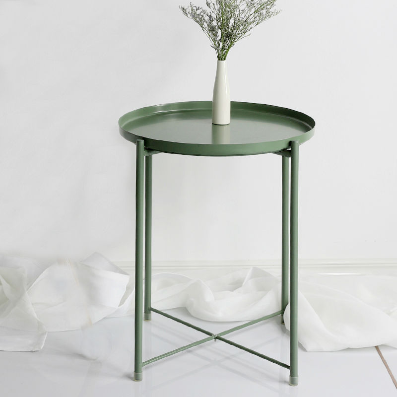 Nordic Style Modern Metal Small Coffee Table Sofa Side Tea Table For Living Room Simple Household Furniture