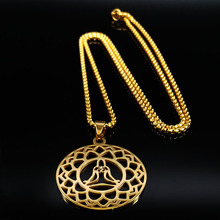 2019 Tree of Life Stainless Steel Chain Necklaces for Women Gold Color Necklaces Pendants Jewelry collier sautoir long N18765 цена в Москве и Питере