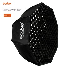 Godox guarda chuva portátil, 80cm, octogon, softbox, refletor com favo de mel, caixa macia para tt600 tt685 v860ii, flash, lanterna