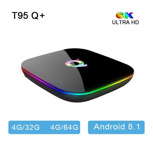 US $36 73 24% OFF|2019 Hot Q plus Android TV box 8 1 9  0 OS USB3 0 WIFI  4G32G 64G H6 Quadcore Cortex A53 HDMI 2 0 6K bluetooth VS X96mini MI BOX  -in