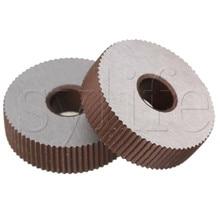 2 шт. инструмент накатки одно прямое колесо линейный накатка 1,2 мм Шаг 8x28 мм