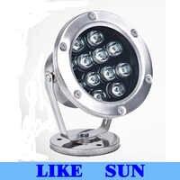 CP 6 w 12 W 18 w 24 w 36 w IP68 a mené la lampe-torche sous-marine de plongée de la lumière rvb lumière led IP68 pour la fontaine d'aquarium de Piscina de piscine