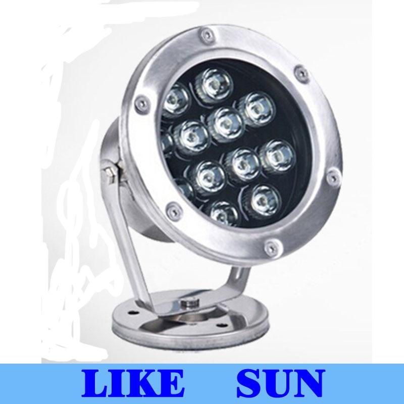 CP 6w 12W 18w 24w 36w IP68 Led Underwater Light RGB Led Light  IP68 Diving Flashlight For Swiming Pool Piscina Aquarium Fountain