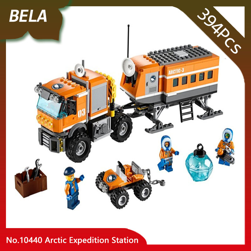 Bela 10440 394pcs City Series Arctic Expedition Station Building Blocks Set Bricks Educational Toys Kids Gifts Compatible 60035