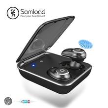 Samнагрузки I7PLUS Беспроводные Bluetooth 5,0 наушники бизнес беспроводные наушники 3D стерео гарнитуры с блоком питания для iPhone 8 X