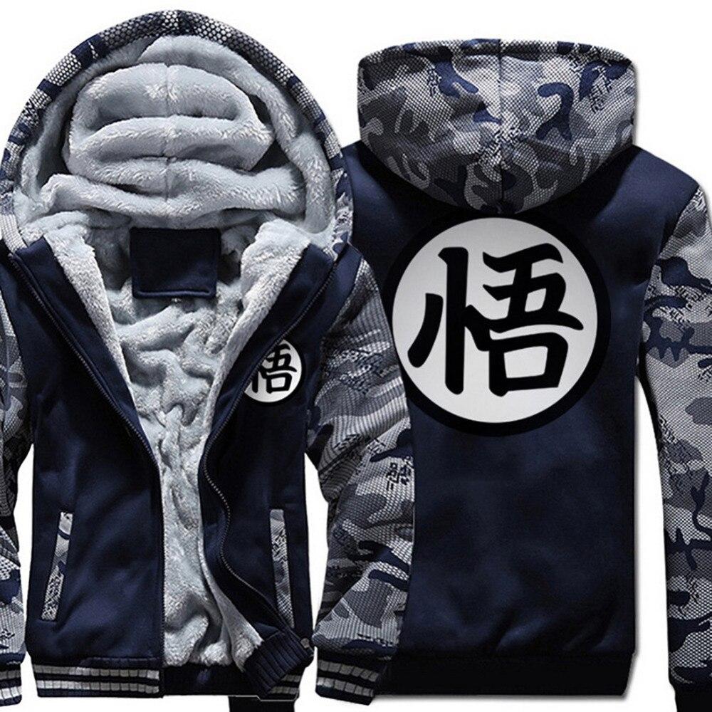 Winter Warm Anime Hoodies Dragon Ball Z Pocket Hooded Sweatshirts Goku 3D printing Men Long Sleeve Hoodie Coat Streetwear in Hoodies amp Sweatshirts from Men 39 s Clothing