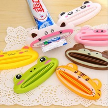 1 pcs multicolor Cute Animal Multifunction portable Plastic Toothpaste Squeezer