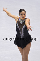 black women competition skating dress custom ice skating dresses for figure free shipping clothes ice skating