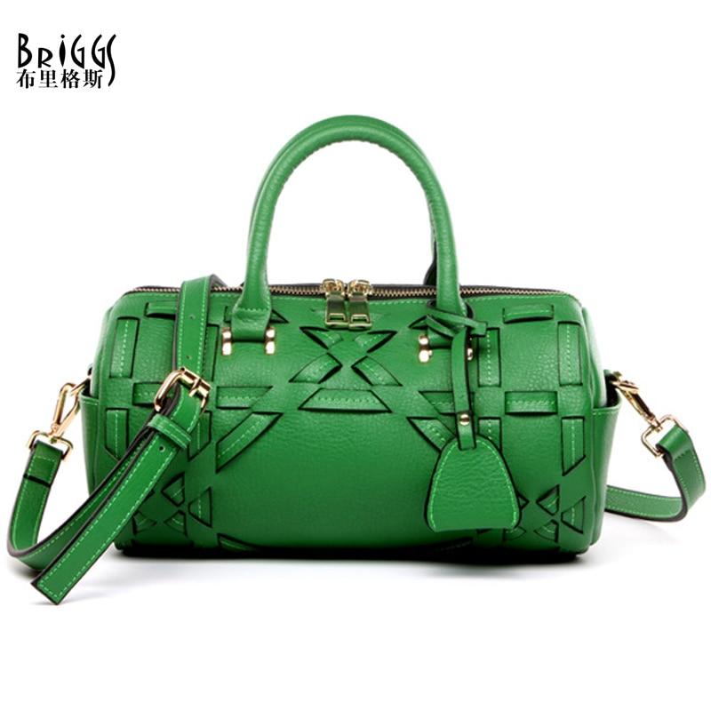 BRIGGS Brand Fashion Women Bag High Quality Genuine Leather Women Handbags Luxury Handbags Women Bags bolsas feminina