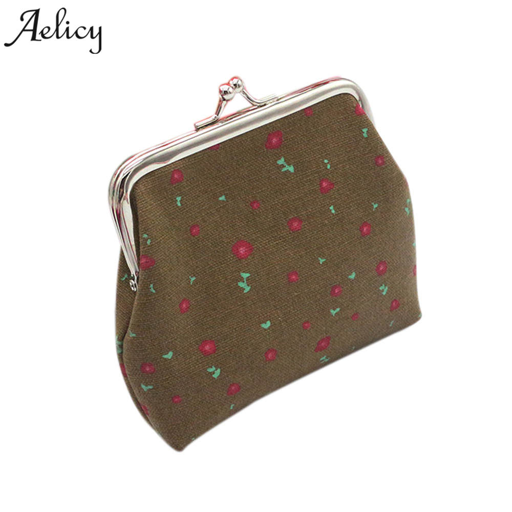 Aelicy Women Lady Retro Vintage Small Wallet Hasp Purse Clutch Bag Coin Purses Women Small Wallet portefeuille femme