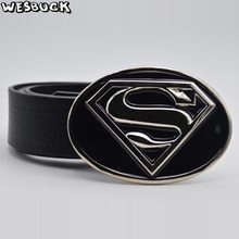 0b4a026417e 5 PCS MOQ WesBuck Marque Superman Boucle de Ceinture pour Hommes Femmes  boucle En Métal Cowboy