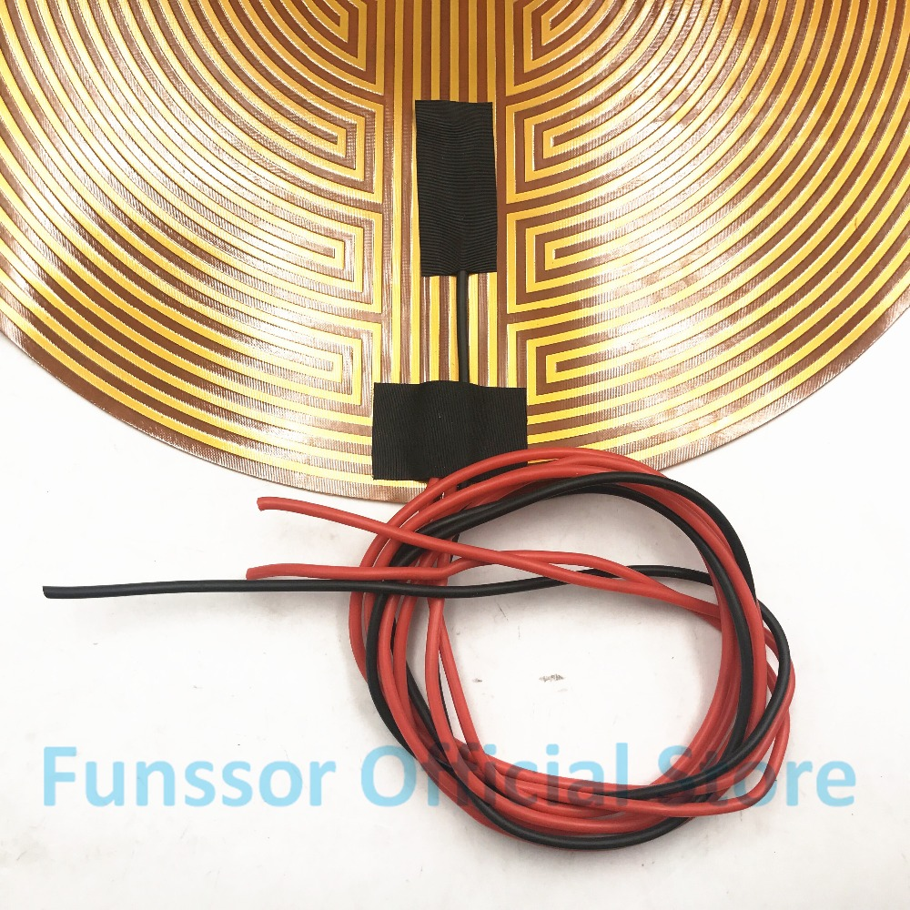 Funssor 260mm 12V 50W Round Polyimide film Heater bed NTC3950 Thermistor for DIY Delta/Kossel 3D Printer funssor 220v 450mm diameter round polyimide heater bed heater with adhesive tape for diy kossel 3d printer