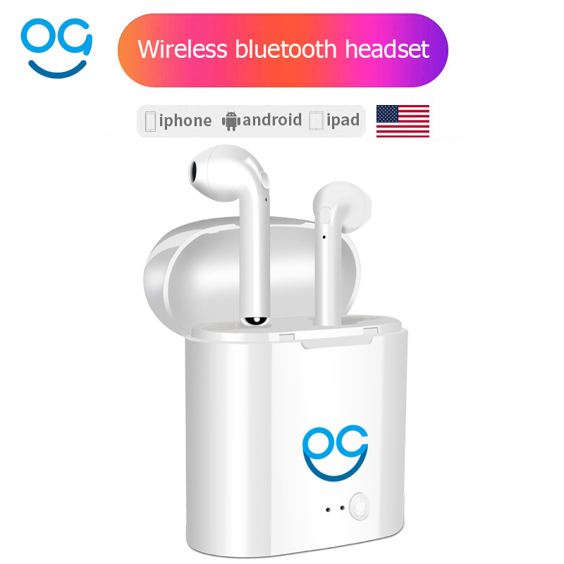 I7S TWS Headphones Wireless Bluetooth Earphone Double Ear Not Air Pods Earphones Headsets Earbuds For xiaomi Iphone Android ifans mini i9s twins earbuds mini wireless bluetooth earphones i7s tws air headsets pods stereo headphones for iphone android pc