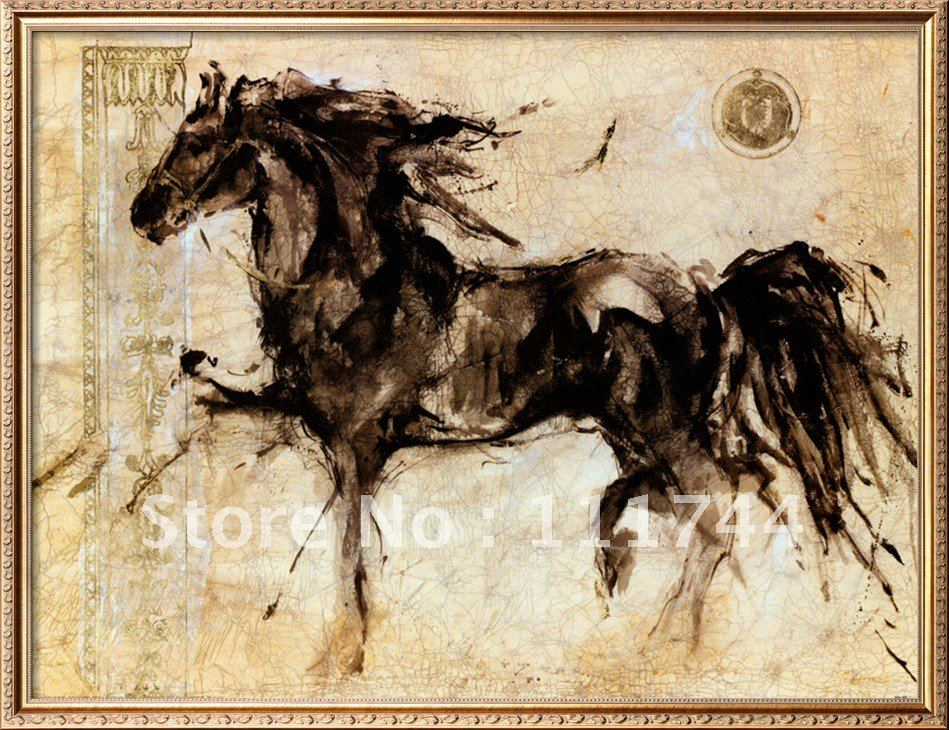Horse Oil Paintings Modern Art Abstract Lepa Zena By Marta