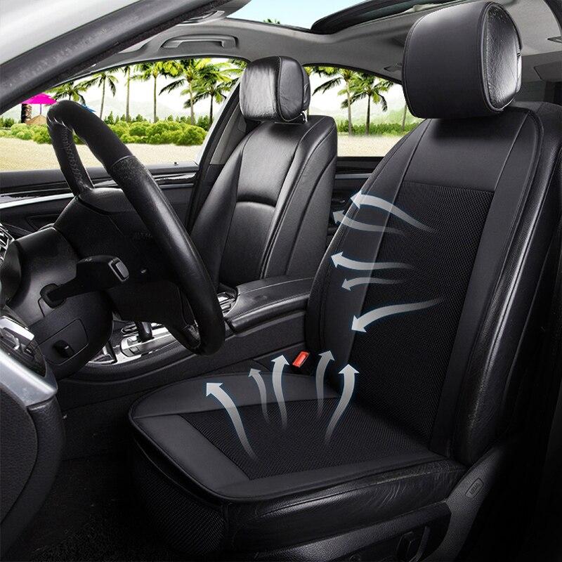 Couverture de siège de voiture voitures sièges couvre ventiler de refroidissement accessoires pour ford focus mk2 audi a3 8 p chevrolet captiva vw passat b6