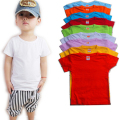 2016 New Arrival Children Cotton DIY T-shirt Kids Blank T-shirts Boys Girls Short-sleeved Shirt Pure Color Can Be Painted 2-13T