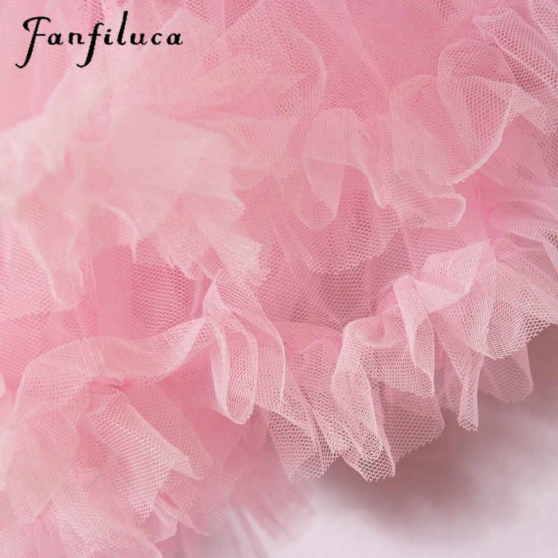 Fanfiluca bé gái dress bóng áo choàng bông mềm ren sơ sinh tutu dress phù hợp với cơ thể bé quần áo công chúa dresses