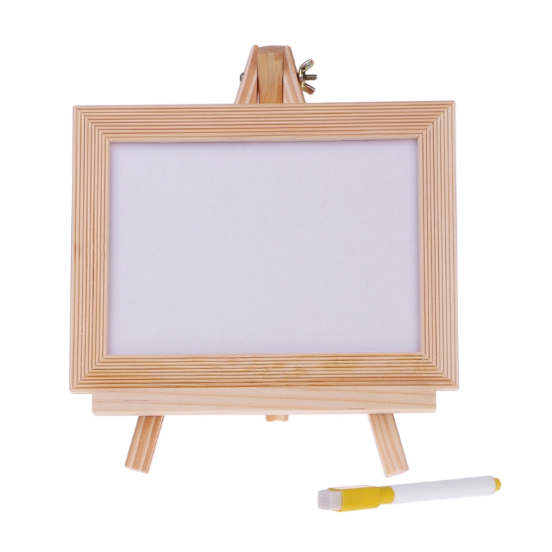 Wood Frame Tabletop Easel White Dry Erase Board Whiteboard Children Kids Toy+Pen