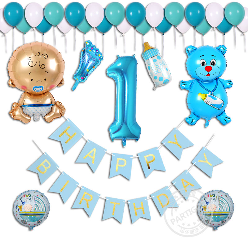 Online Get Cheap 1 Year Girl Baby Birthday Decoration Aliexpress
