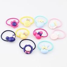 20Pcs/Lot Girls Kawaii Elastic Hair Bands Headwear Scrunchies Rubber Bands Headbands Hair Accessories New Born Baby Hair Band все цены