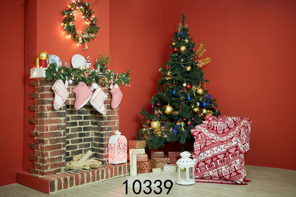 Christmas Background Vinyl Photography Backdrops Computer Printed