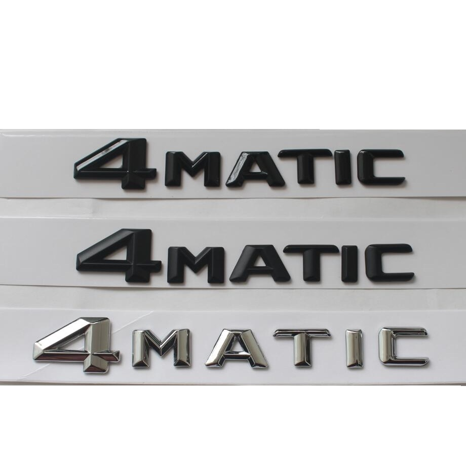 4MATIC  Car Trunk Rear Letters Word Badge Emblem Letter Decal Sticker for Mercedes-Benz Mercedes Benz 760li chrome abs car trunk rear letters badge emblem sticker fit for bmw f01 f02 7 series 760 li trunk car styling accessories