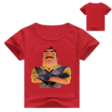 Summer 2019 Kids Cartoon Hello Neighbor Game Pattern T shirt Baby Girls Summer Short Sleeve T-shirt Boys Casual Funny Clothes