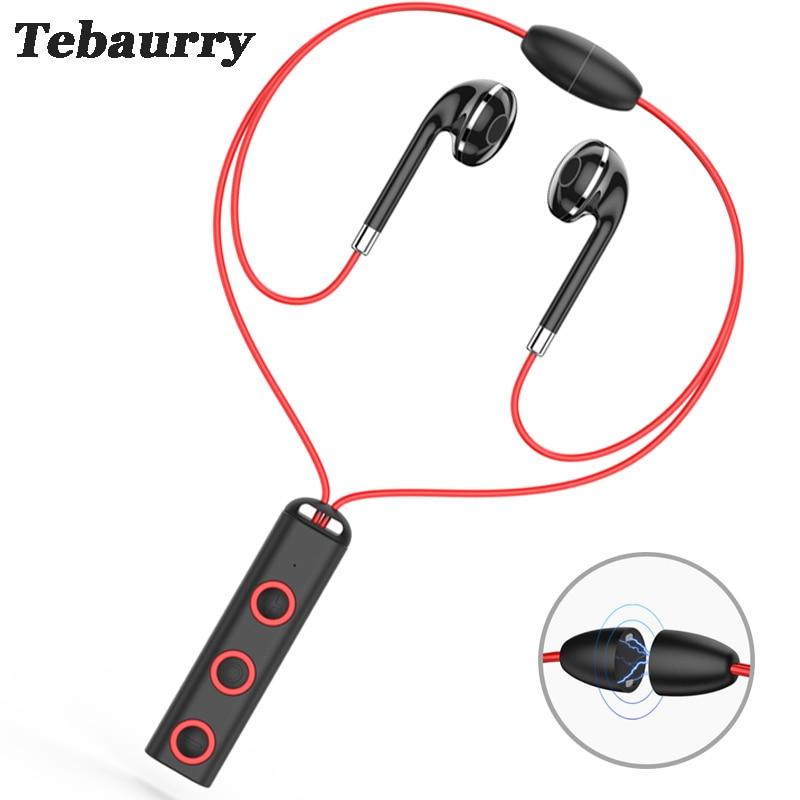 Tebaurry BT313 Bluetooth Earphone Sport Running Bluetooth Headset Bass Earbuds Wireless Headphone With Microphone for phone sport running bluetooth earphone for lg g3 beat earbuds headsets with microphone wireless earphones
