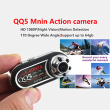 Mini QQ5 Camera Full HD 1080P Infrared Night Vision DV 720P Camcorder Webcam 170 Wide Angle Motion Detection cam