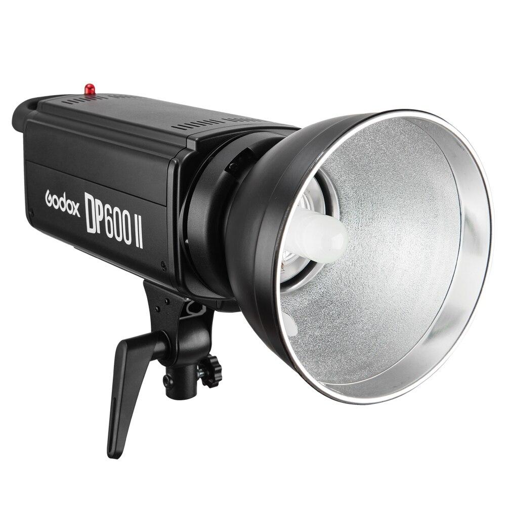 Godox DP600II GN80 avec X système Studio Speedlite Flash lumière 110 V ou 220 V entrée puissance 600WS avec lampe et réflecteur Standard