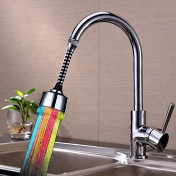 Kitchen/Bathroom Faucet Accessoires Water Glow LED Light Aerator for Kitchen with Multicolor Fastflashing Type tap parts