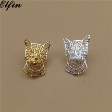 Elfin Wholesale Bengal Cat Brooches Gold Color Silver Color Trendy Bengal Cat Brooches Jewellery Men(China)