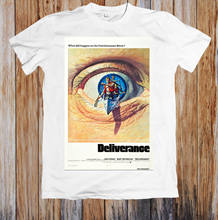 Deliverange 1970's Retro Movie Poster Unisex T-Shirt white black grey red trousers hat pink t-shirt RETROVINTAGE Classic t-shirt(China)