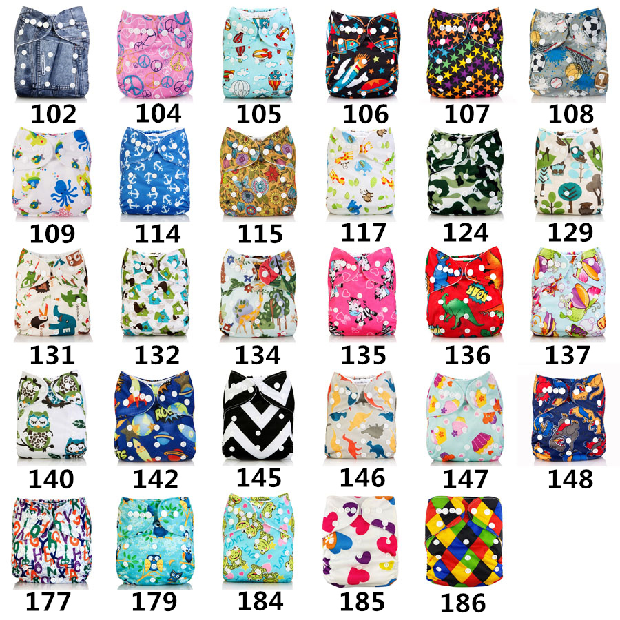 2018 Washable Baby Cloth Diaper Cover Waterproof Cartoon Owl Baby Diapers Reusable Cloth ...