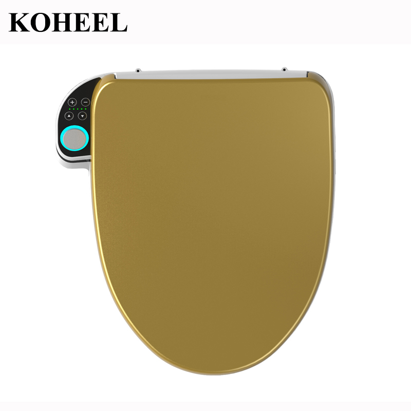все цены на Golden Smart Simple Knob Intelligent Toilet Seat Washlet Elongated Electric Bidet Toilet Seats Heating Sits Led Light