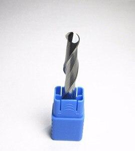 Image 3 - Fresas de punta de bola de carburo de tungsteno, Ø 10mm, corte de hoja L1 = 52mm, enrutador de corte de grabado CNC, broca para fresa