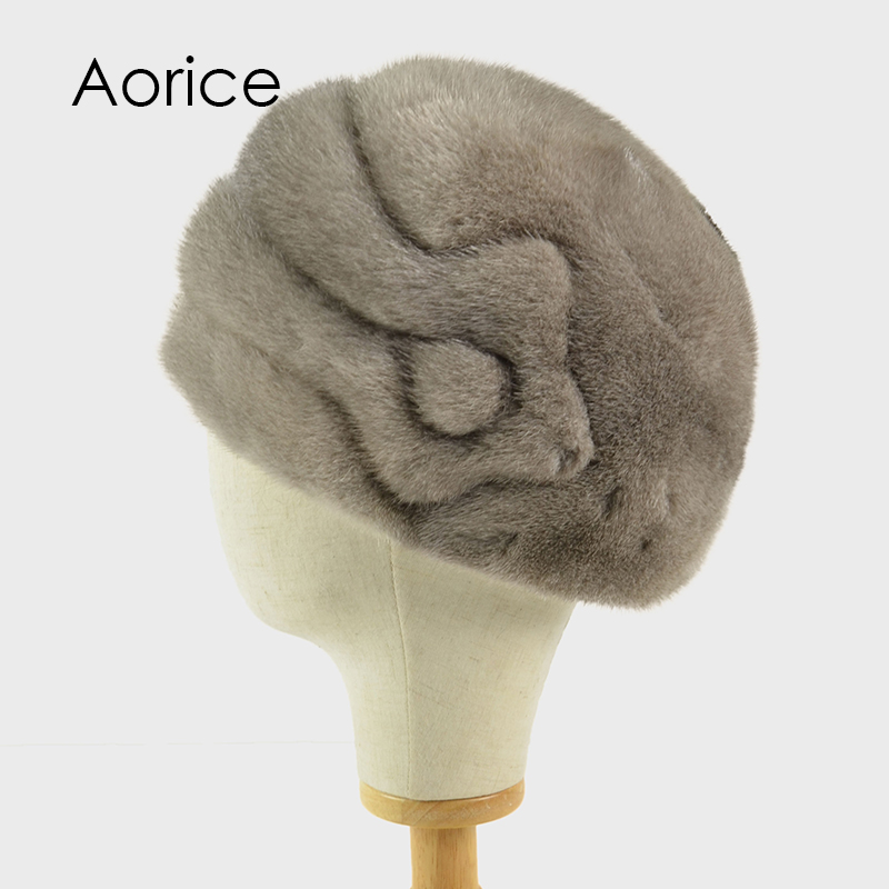 Aorice HF714 women real mink fur hat Russia winter warm natural mink fur Bomber berets hats caps crystal knob glass knobs dresser drawer pulls handles lavender purple cabinet knob pull handle furniture hardware bling
