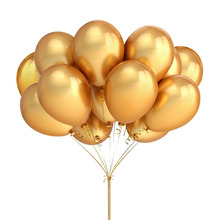 Gold Silver and Black Latex Balloons