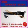 Color CCD HD night vision câmera de visão traseira do carro retrovisor telespectador traseira do carro do sistema de estacionamento para NISSAN TIIDA tronco alça câmera
