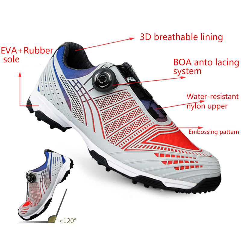 Pgm Golf Shoes Men Sports Shoes Waterproof Male Sports Shoes Knobs Buckle Shoelace Breathable Anti slip