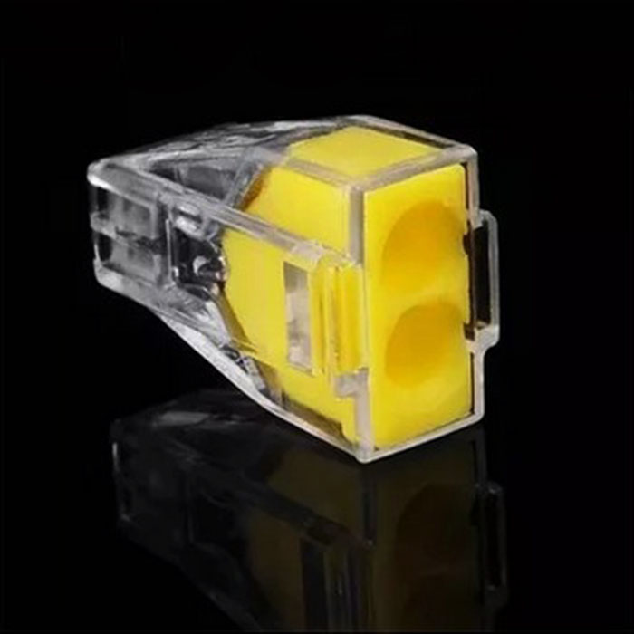 Free Shipping 50pcs PCT-102 Push Wire Connector 2 Pin Conductor Terminal Block Cable Connector Electrical Contacts