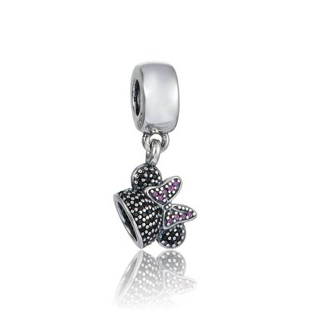 bc6ca52a63d cartoon ear hat dangle charms with cz Authentic 925 sterling silver beads  Fit Pandora Charms Bracelet women diy jewelry LW651
