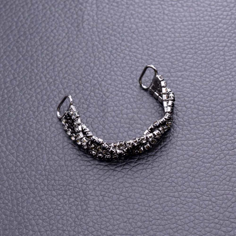 d263d3c85ef7d 30pcs Glass Clothing Rhinestones Appliques Sew on Buckles Bikini Connector  Black diamond Jet stone Decorations For Dress Garment-in Buckles   Hooks  from ...